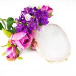 Παλέτα απομίμηση πέτρας για ανάμιξη βερνικιών και παρουσίαση φωτογραφιών
