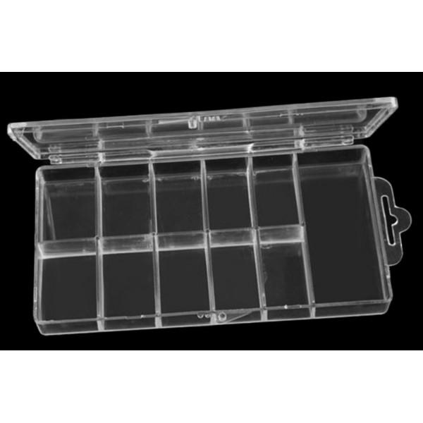 πλαστικό κουτί γιά 100 τεμάχια νύχια (10 χωρίσματα γιά νύχια + 1 χώρισμα γιά κόλλα)