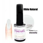 βερνίκι ημιμόνιμο 15ml γιά γαλλικό μανικιουρ χρώμα ασπρο white naturale