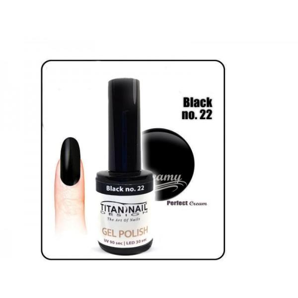 βερνίκι ημιμόνιμο 8ml γιά γαλλικό μανικιουρ χρώμα μαύρο