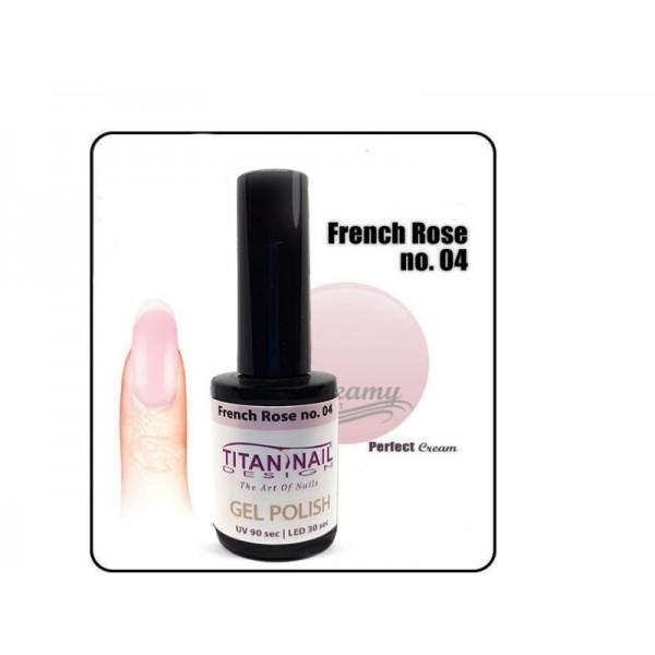 βερνίκι ημιμόνιμο 8ml γιά γαλλικό μανικιουρ χρώμα french rose