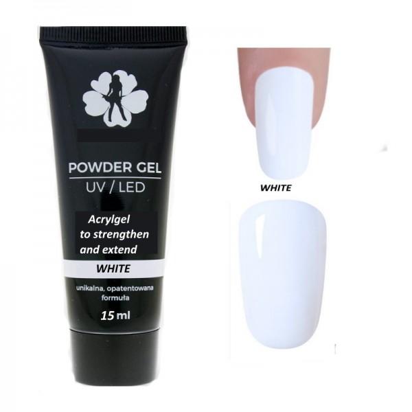 acryl gel για χτίσιμο νυχιών 15gr χρώμα άσπρο - color white
