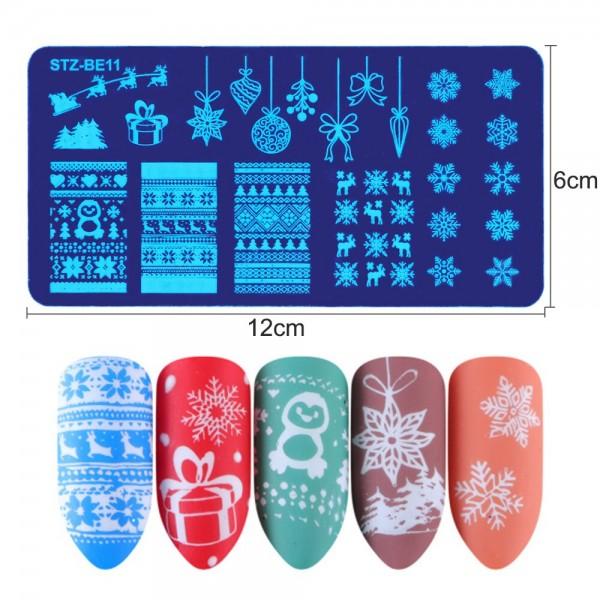πλατώ σφραγίδας γιά διακόσμηση νυχιών  Christmas Stamping Plates